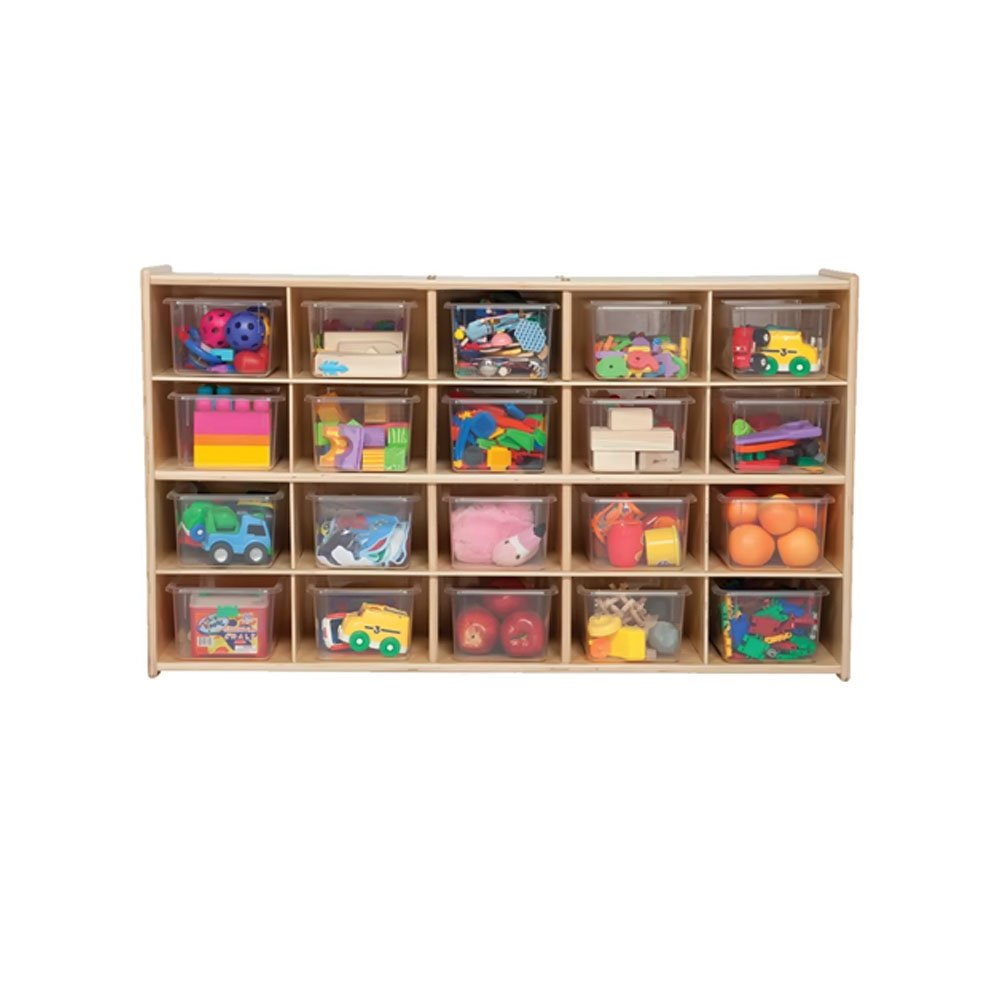 Wood Designs C14501 20 Tray Storage with Clear Trays