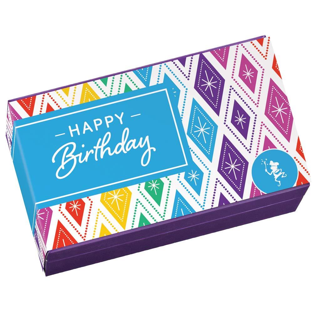 Fairytale Brownies Birthday Sprite Dozen Gourmet Chocolate Food Gift Basket - 3 Inch x 1.5 Inch Snack-Size Brownies - 12 Pieces - Item HB212 by Fairytale Brownies (Image #2)
