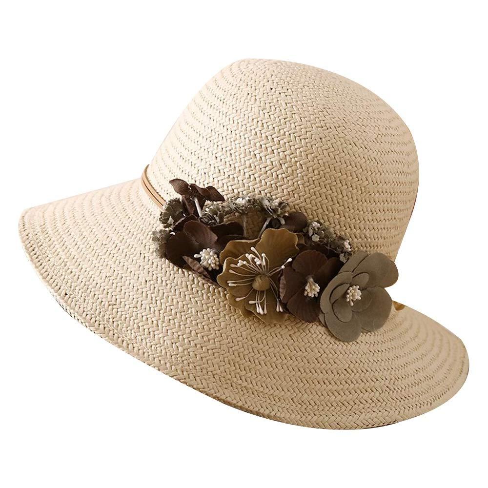 4 Xiao Jian Hat  Women's Straw Hat Foldable Summer Woven Sunhat Travel UV Predection Beach Hat Sun Hat (4 colors) Summer hat