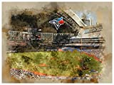 Toronto Blue Jays Poster Watercolor Art Print 12x16 Wall Decor
