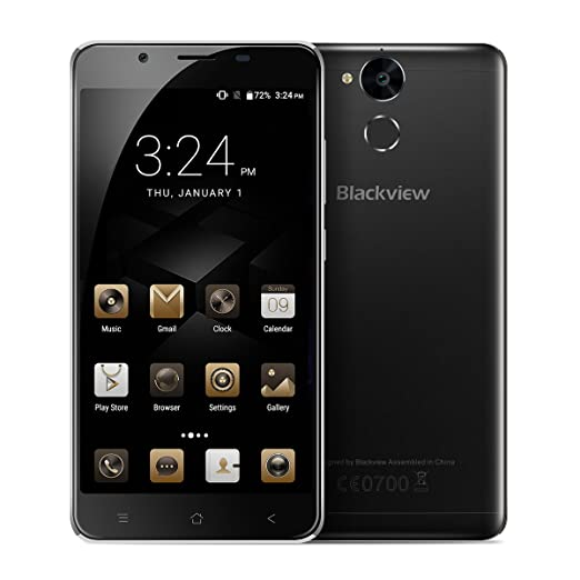 9 opinioni per Blackview P2 Lite- 5.5 pollici Android 7.0 smartphone 4G 3GB di RAM 32GB ROM