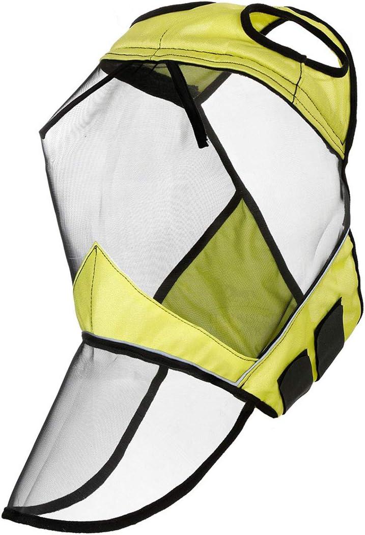 Harrison Howard CareMaster Fly Mask Full Face No Ears Hi-Vis Fluorescent