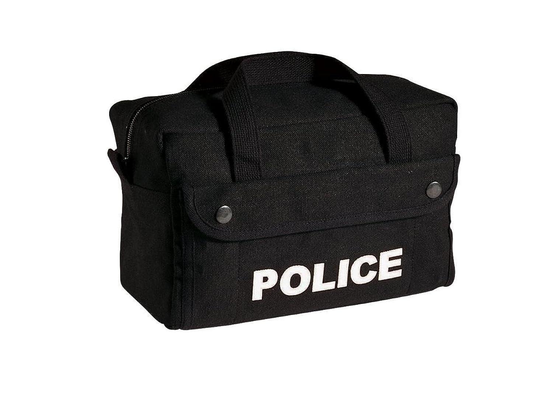 Rothco Tactical Gear Bag - Small Canvas Police Logo, Black By Rothco R