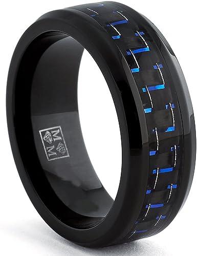 Herren Schwarz Titan Ehering Mit Drachen Design und Schwarz Zirkonia Ultimate Metals Co Bequemlichkeit Passen