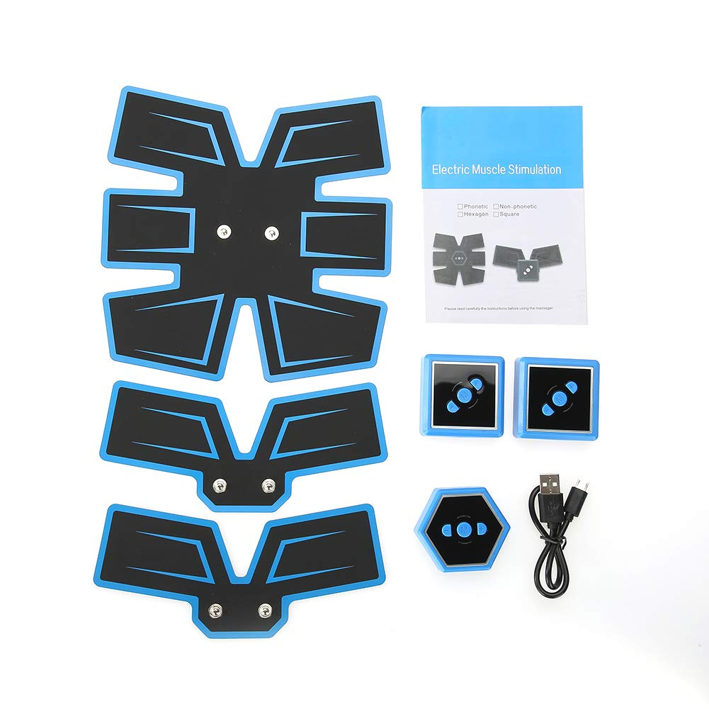 Black Abs Trainer EMS Abdominal Muscle Stimulator Muscle Toning