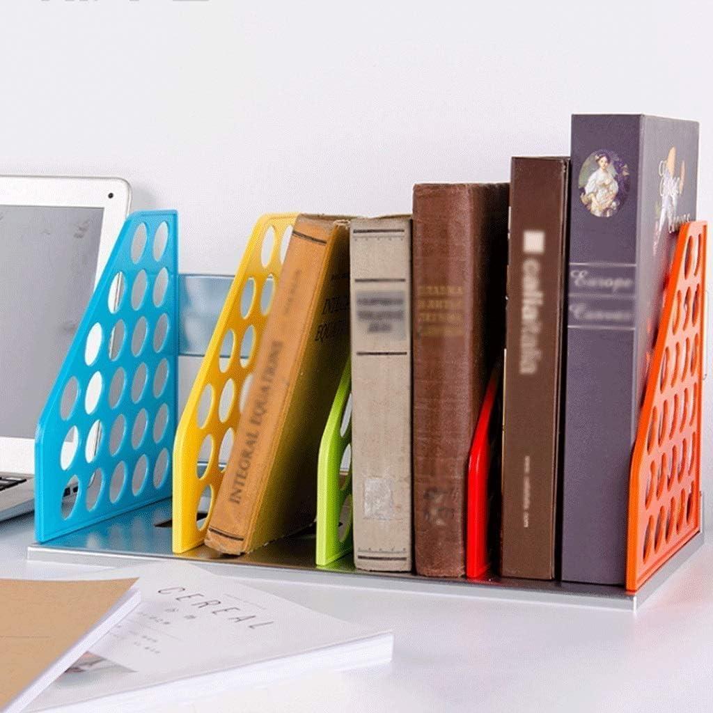 BAYUESHOP Book Regal Bookcase Shelf File Holder Can Be Assembled Book Ps Plastic Book Compartment