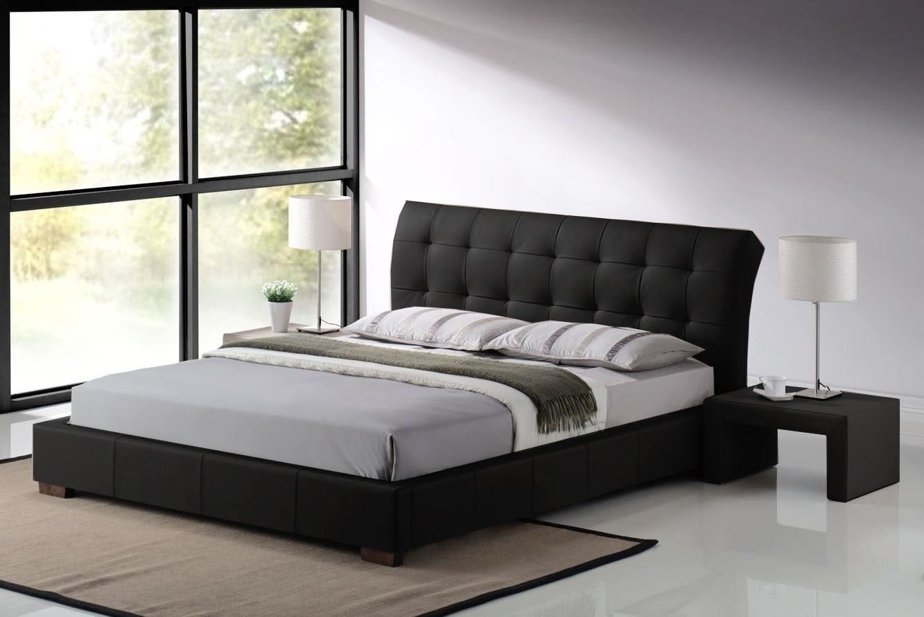 MODERN FURNITURE DIRECT Fabio King Size Designer Leather Bed Frame 5 Ft Black Amazoncouk Kitchen Home