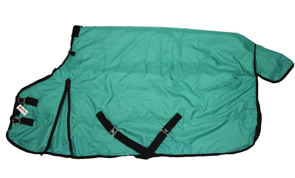 600D Medium Weight Horse Turnout Blanket Water Proof Ripstop Teal 74