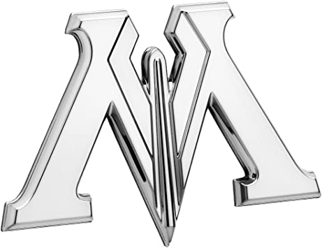 Flexes to Fully Adhere to Most Smooth Surfaces LNI AUSTRALIA 9672-110 Fan Emblems Harry Potter Car Emblem Chrome Ministry of Magic 3D Automotive Decal Sticker Badge