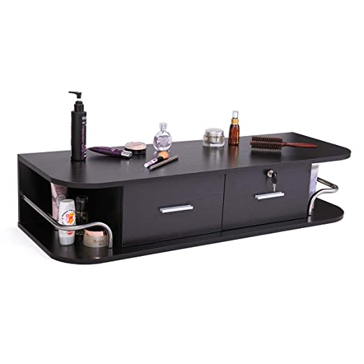 Sandinrayli Black Salon Locking Cabinet