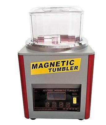 cgoldenwall Digital magnético vaso, joyería pulidora magnético Deburring pulido máquina para joyas oro de acabado