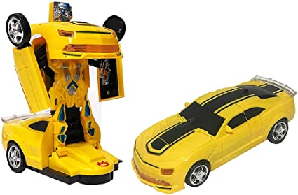 for Ages 3 Years and Above Pleasure for Kids Ideal for Gifting Purpose Toysery Bumblebee Transforming Robot Car Endless Fun Beautifully Designed Colorful Lights