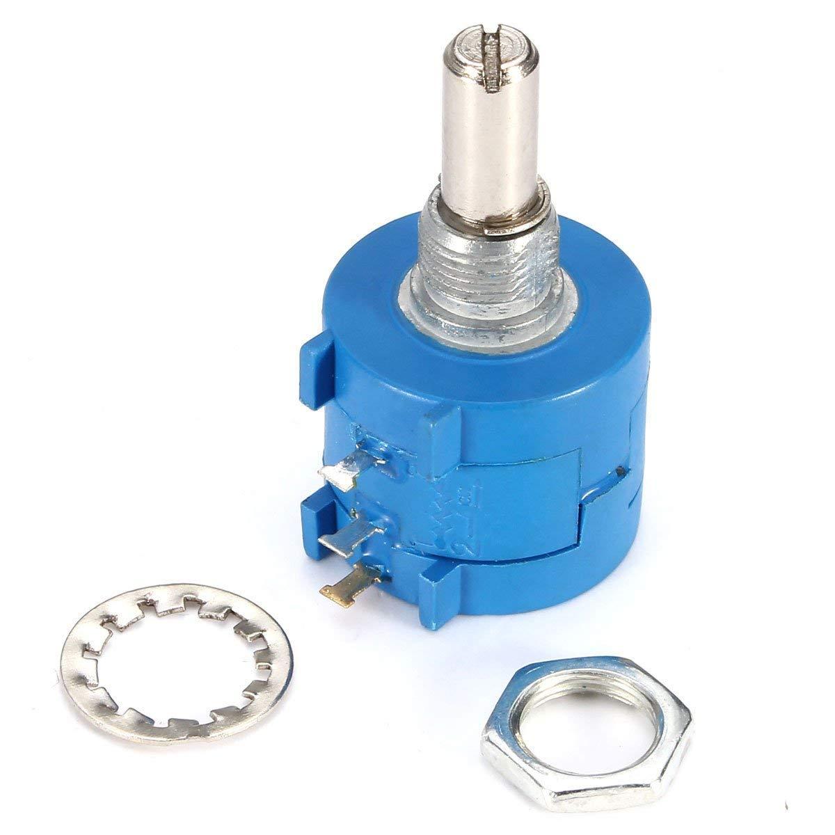 5PCS ~ BOURNS ~10K Ohm ~ Rotary Wirewound Precision Potentiometer ~ 3590S-2-103L