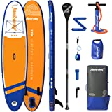 """Aquaplanet 10ft 6"""" x 15cm MAX Stand Up Paddle Board kit. Air Pump with Pressure Gauge,Adjustable Aluminium Floating Paddle, R"""
