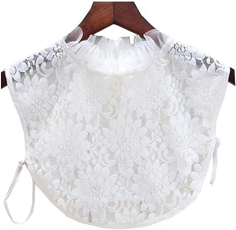 Black Temptation Cuello Falso Cuello Desmontable Media Camisa Cuello Falso Collar para Mujer, H: Amazon.es: Deportes y aire libre