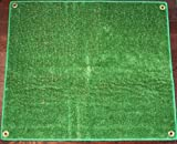 Outdoor Turf Rug / Aisle Runner – 12'x20' Green – Artificial Grass with Premium BOUND Nylon Edges and Grommits. 8 Oz. - 100% UV olefin. Light Weight Marine Back. Many Custom Sizes & Shapes Available