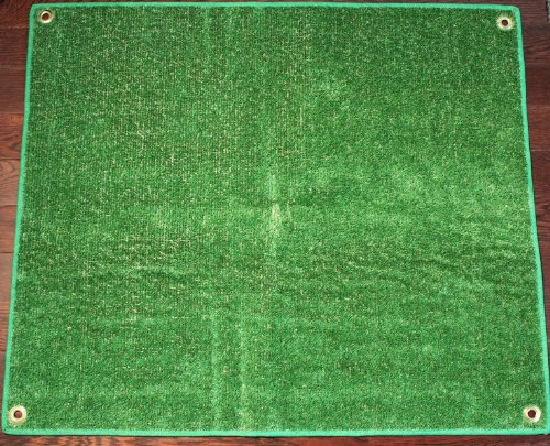 Outdoor Turf Rug / Aisle Runner – 12'x20' Green – Artificial Grass with Premium BOUND Nylon Edges and Grommits. 8 Oz. - 100% UV olefin. Light Weight Marine Back. Many Custom Sizes & Shapes Available by Koeckritz Rugs
