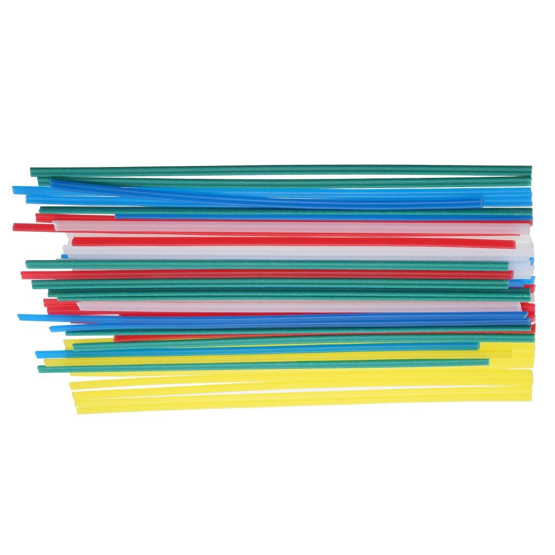 50pcs Plastic Welding Rods Welder Sticks Welding Purposes 5 Colors