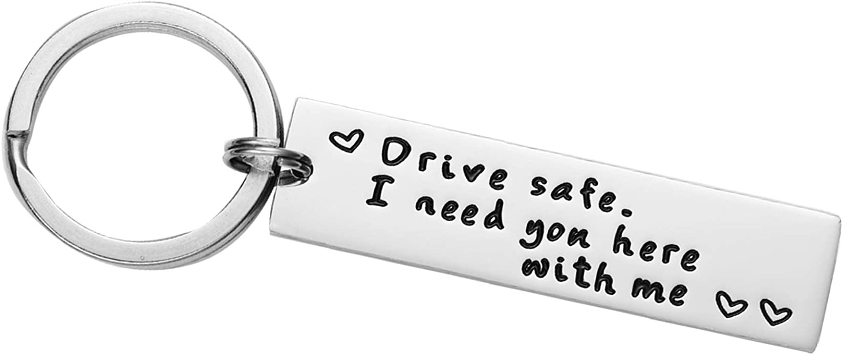 Stainless Steel Drive Safe I Need You Here with Me Keyring Keychain Love Gifts