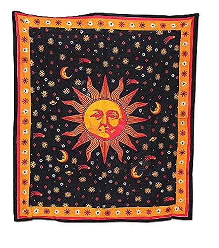 wasserpfeifenversand Pañuelo Grande Sarong para Colgar de Pared 210 x 240 cm Batik Toalla de Playa Manta: Amazon.es: Hogar