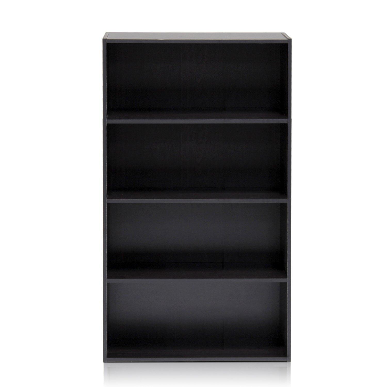 Furinno 11209EX Pasir 4 Tier Open Shelf, Espresso by Furinno