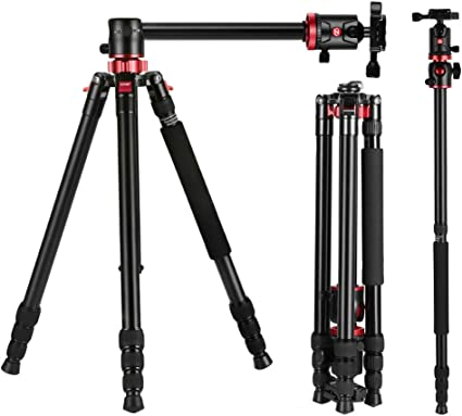 XIXI Aluminu Alloy Tripod,Lightweight Travel Tripods Portable Detachable Monopods Quick Release Plates 360 Degree Ball Head Compatible DSLR SLR Video Camera Camera