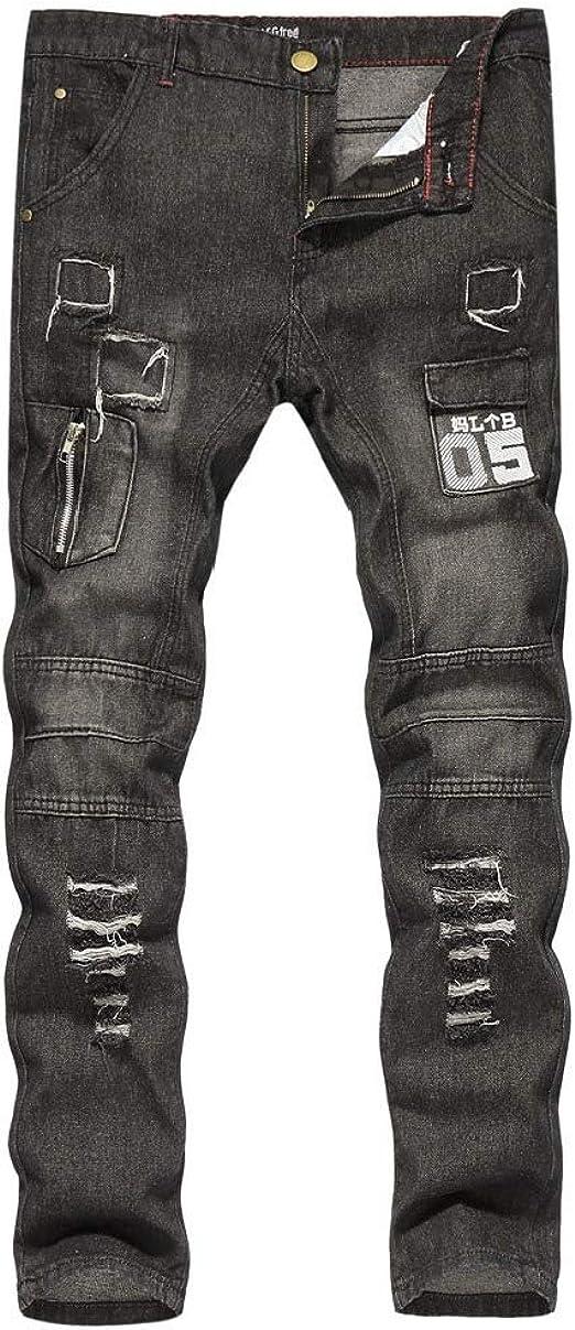 Tootess 男性印刷苦しんでいるジップアップソリッドカラーの薄いポケットスタイリッシュなジャンパンツ