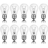 Lot de 10ampoules à incandescence Clair E2740W 40W Ampoules à incandescence