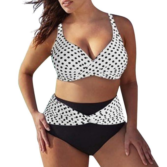 dbd19df05e06 Lurcardo 2019 Mujer Sexy ImpresióN Bikini Set Pun to de Onda Halter ...