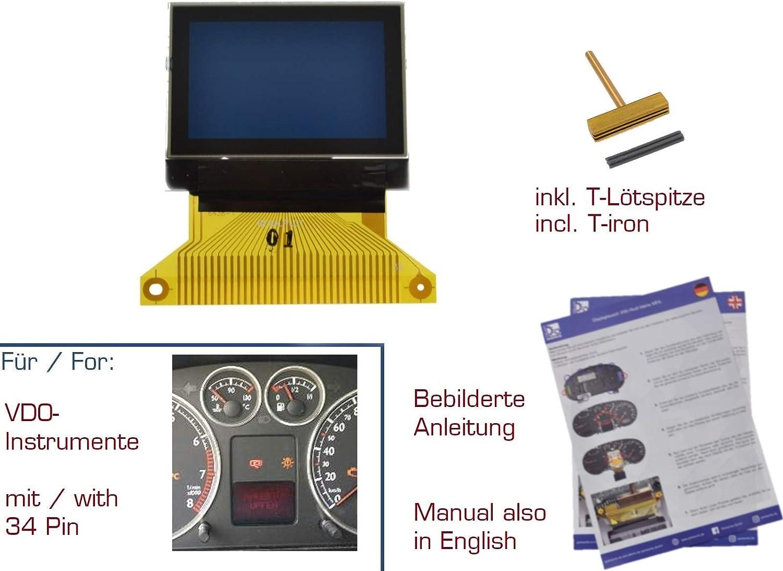 gearworks Display LCD f Alhambra Ibiza/6L 99-04 - Instrumento combinado/cuentakilómetros 34P: Amazon.es: Coche y moto