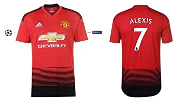 buy popular 79464 c4d62 Manchester United Men's Jersey 2018-2019 Home UCL - Alexis 7 ...