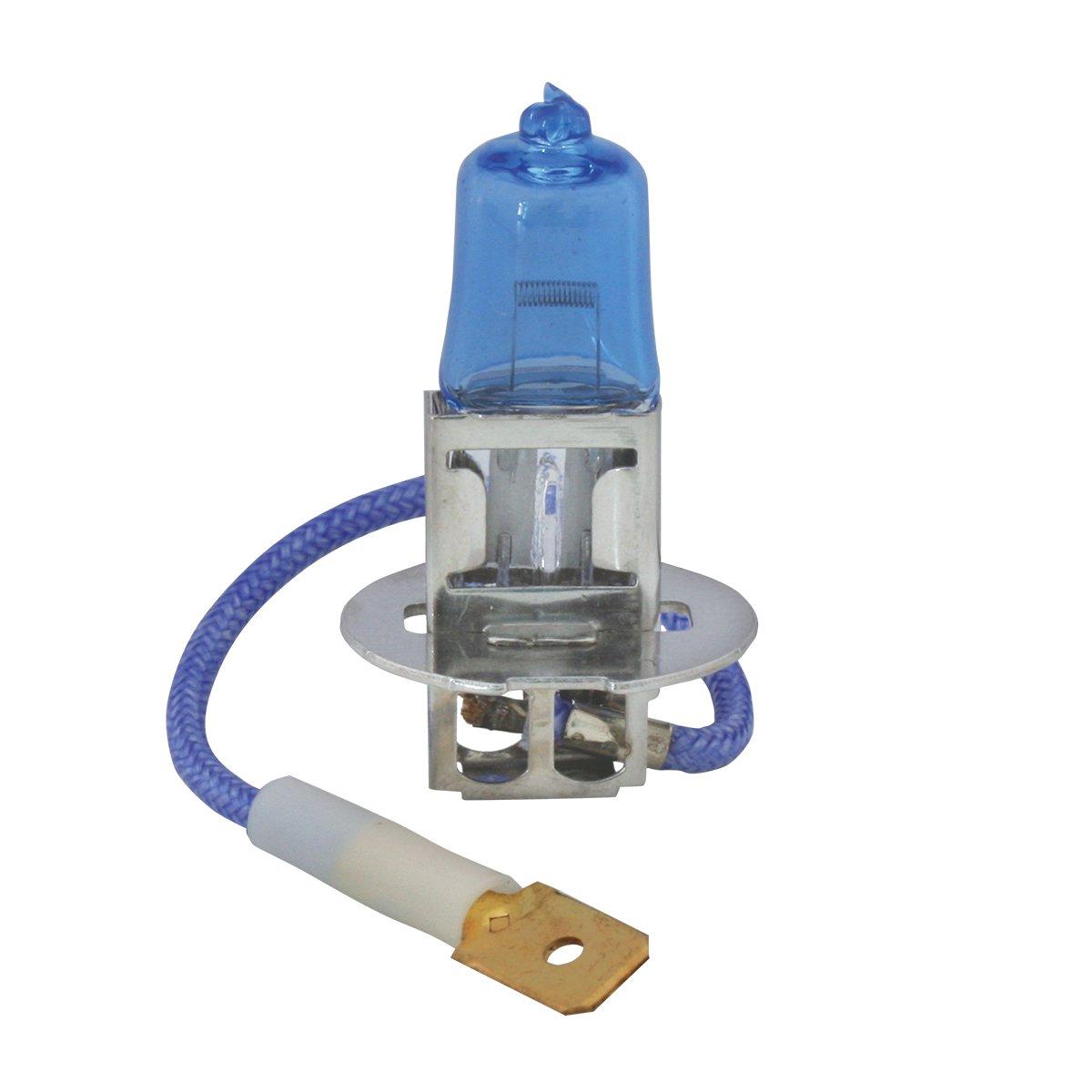 Grand General 82111 H3 Icy Blue Headlight Halogen Bulbs Twin Pack, 12V/55W