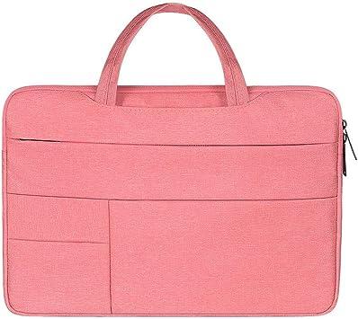 HOUYAZHAN Bussiness Laptop Notebook Maletín Satchel Schoolbag Tablet Estuche Funda Protectora para Mujeres Lady Men (Color : Pink, Size : 15 Inches): Amazon.es: Electrónica