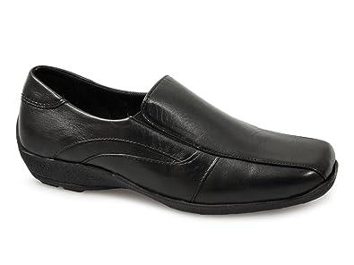 Mod Comfys - Mocasines de cuero para mujer: Amazon.es: Zapatos y complementos
