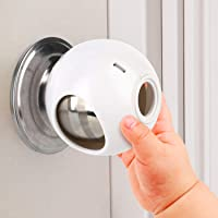 Door Knob Safety Cover for Kids (4 Pack) New Shape & Structure Design Child Door Knob Covers Prevent Children from…