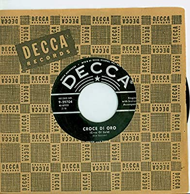 Croce Di Oro (Cross Of Gold) | Sweet Kentucky Rose - Red Foley And Betty Foley (Decca Records 1955) Near-Mint Plus (7 1/2 out of 10) - Vintage 45 RPM Vinyl Record