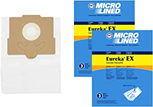 DVC Micro-Lined Paper Replacement Bags Type EX Fit Eureka Excalibur 6978, 6982, 6983-6 Bags
