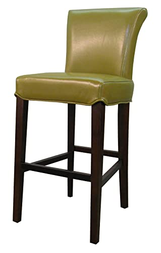 New Pacific Direct Bentley Bicast Leather Counter Bar Counter Stools, Wasabi