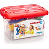 SmartMax Build & Roll (44 pcs) STEM Magnetic Discovery Building Set Featuring Safe, Extra-Strong, Oversized Building Pieces a