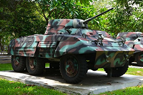 LAMINATED 36x24 Poster: Tank Armored Car Military War Army V