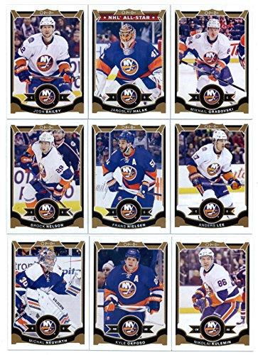 2015-16 O-Pee-Chee Hockey New York Islanders Team Set of 18 Cards: Jaroslav Halak, Mikhail Grabovski, Josh Bailey, Frans Nielsen, Anders Lee, Brock Nelson, Nikolai Kulemin, Kyle Okposo, John Tavares, Michal - Bailey Tyler