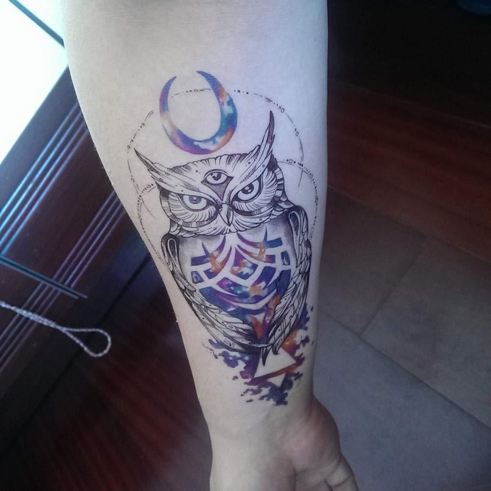 Falso Tatuaje temporal Color de Transferencia de Agua Pájaro Luna ...