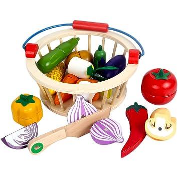 iVansa 12 Piezas Cortar Frutas Verduras Juguetes Frutas y ...