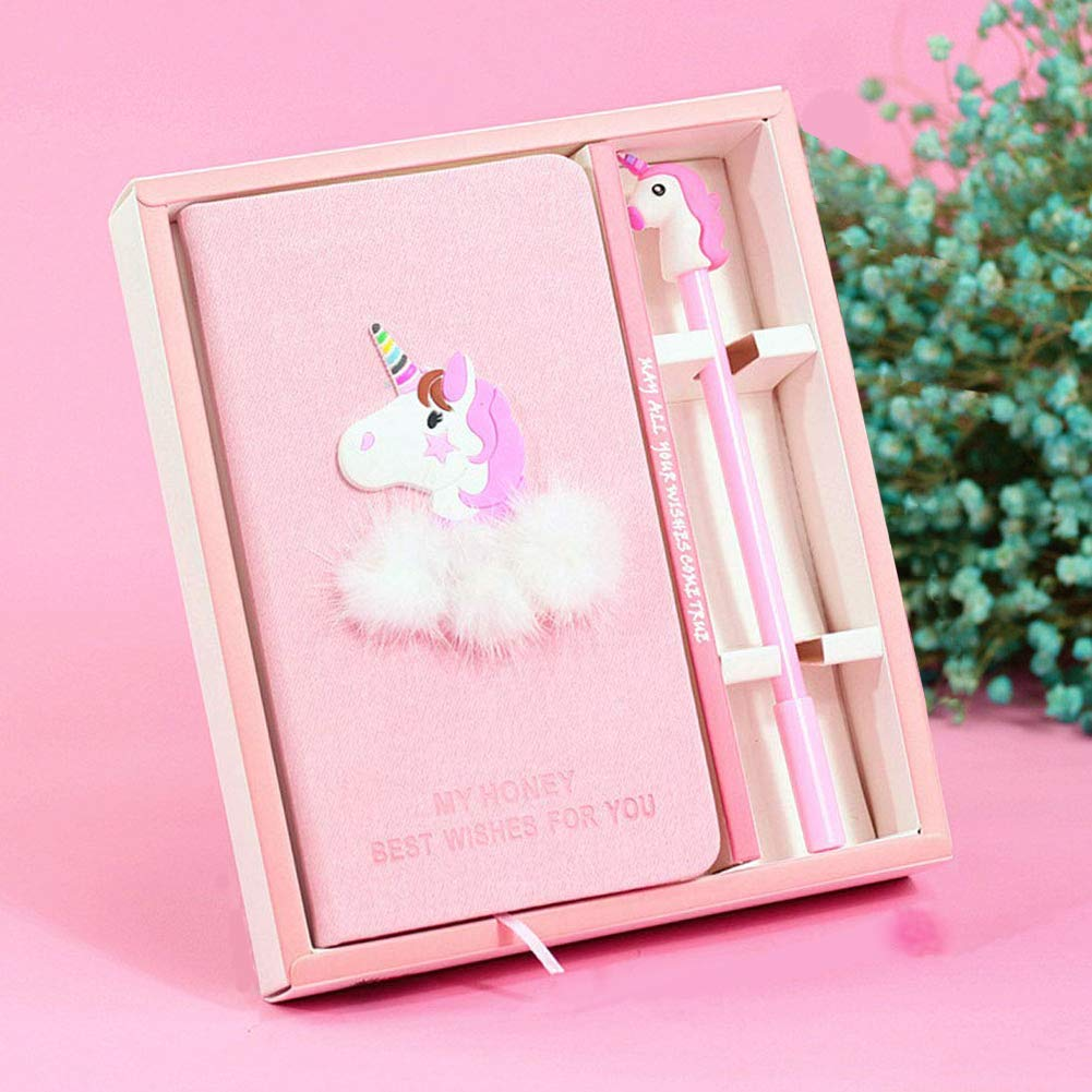 Penne gel notebook set –  cute Unicorn Gazzetta cancelleria set di compleanno, regali per ragazze, ragazze giocattoli di scrittura di tutte le età : 3 4 5 6 7 8 9 TIANXIN