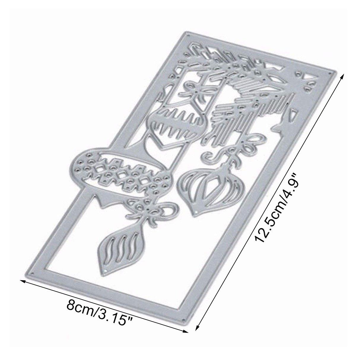MYAMIA Linterna Metal Patrón Cortar Troqueles Moldes Navidad Bricolaje Papel Tarjeta Arte Plantilla Scrapbook Regalos: Amazon.es: Hogar