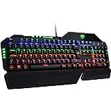 Clavier Gamer AZERTY VicTsing Clavier Gaming Mécanique USB Clavier Rétro-éclairé de Jeux avec 104 Touches LED RGB pour Joueur, Dactylo, etc