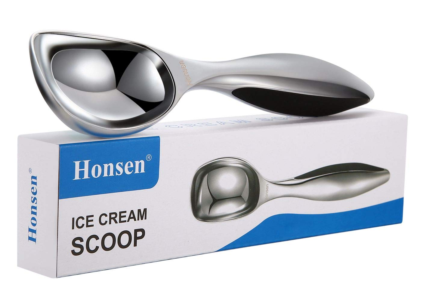 Honsen Solid Stainless Steel Ice Cream Scoop with Thickening Handle by Honsen