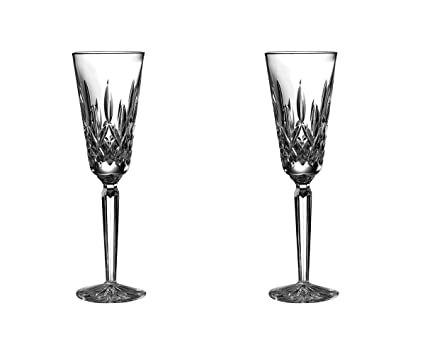 amazon com waterford lismore tall champagne flute set of 2 clear