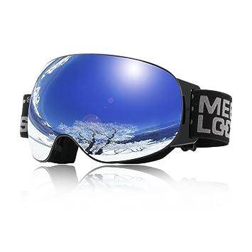 ea69df3ce6d91c Goggles Lunettes Ski, Masque de snowboard Protection avec double objectif  pour homme femme adulte Lunette