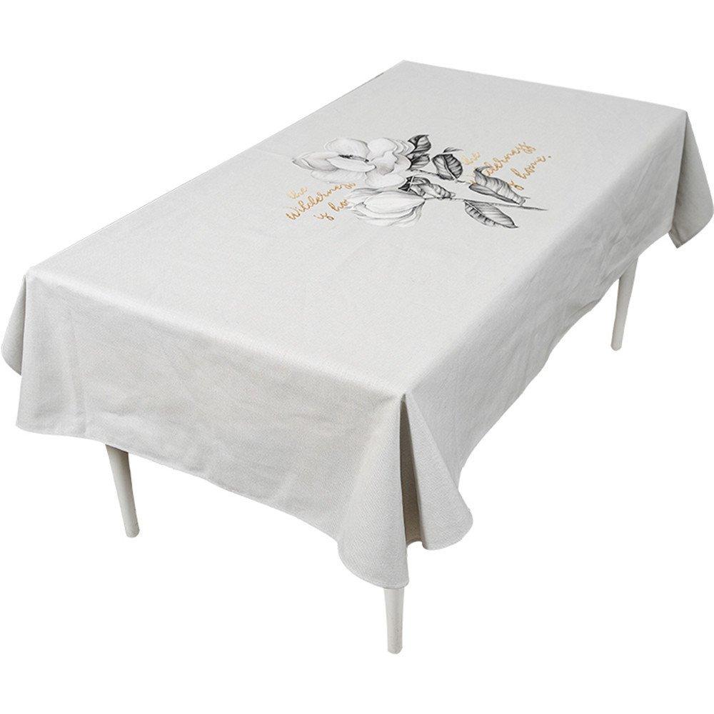 WERLM Tableau Noir et Blanc Nappe en Tissu Tour de Table La Table Basse rectangulaire dans Le Salon Restaurant avec Couvercle Blanc Tissu Serviette,140 * 240cm